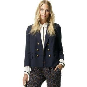 Club Monaco Noelle Blazer Jacket Size 4 Nautical Navy Blue